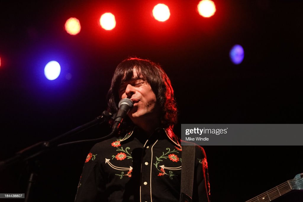 Barrie Cadogan of Primal Scream performs on stage at The Fonda Theatre on October 13, 2013 in Los Angeles, California.