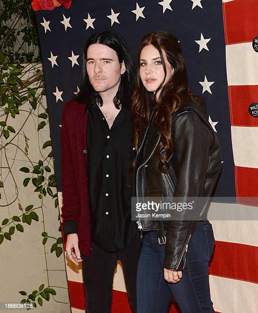 Barrie James O'Neil and singer Lana Del Rey attend the Nylon Magazine Celebration of 'America The Issue' With Lana Del Rey And Marvin ScottJarrett at...