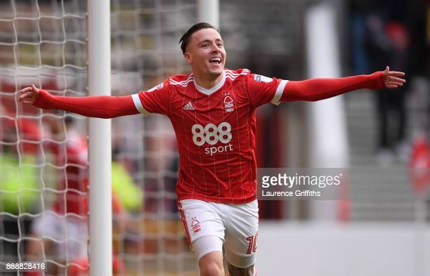 Barrie McKay of Nottingham Forest celebrates scoring the opening goal during the Sky Bet Championship match between Nottingham Forest and Bolton...