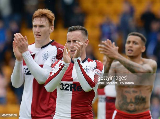 Barrie McKay of Rangers applauds the fans after the Ladbrokes Scottish Premiership match at McDiarmid Park Perth