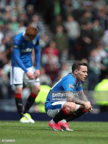 Barrie McKay of Rangers looks on during the William Hill Scottish Cup semifinal match between Celtic and Rangers at Hampden Park on April 23 2017 in...