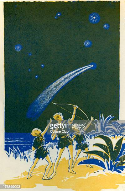 J M Barrie 's 'Peter Pan' 'And then he fired' James Matthew Barrie Scottish novelist and playwright 9 May 1860 – 19 June 1937 Illustration by Gwynedd...