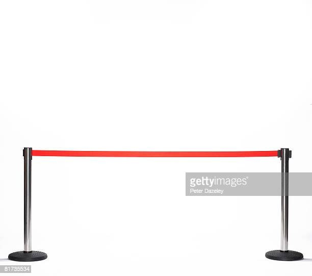 Barrier for red carpet event.