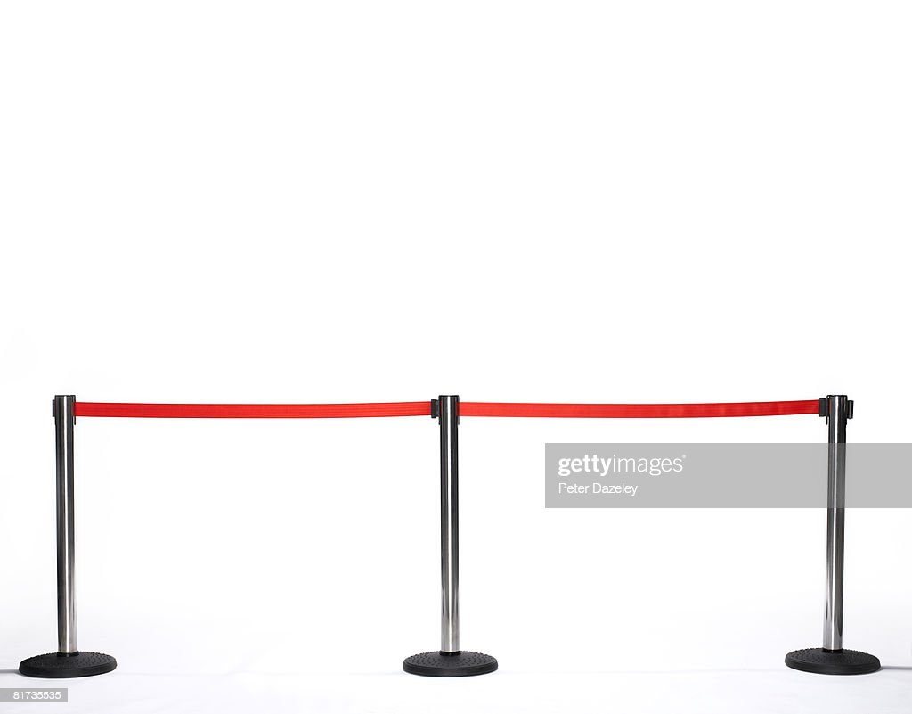 Barrier for red carpet event. : Stock Photo