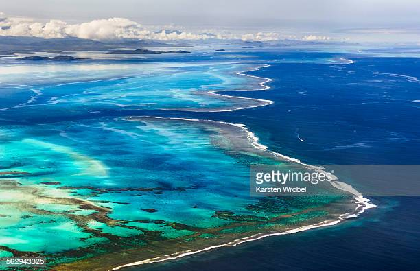 Barrier of the coral reef of Grande Terre, New Caledonia