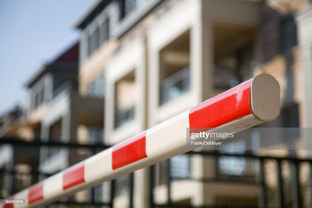 'Barrier, protecting entrance to apartment'