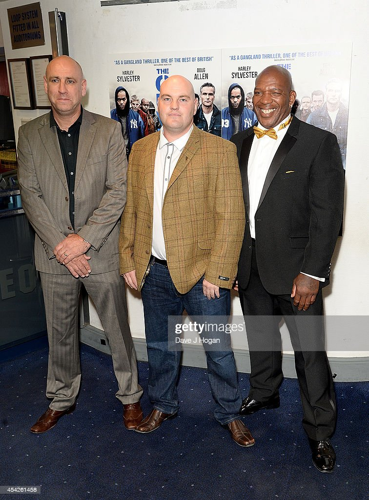 Barrington Patterson (right) and guests attends the UK Premiere of 'The Guvnors' at Odeon Covent Garden on August 27, 2014 in London, England.