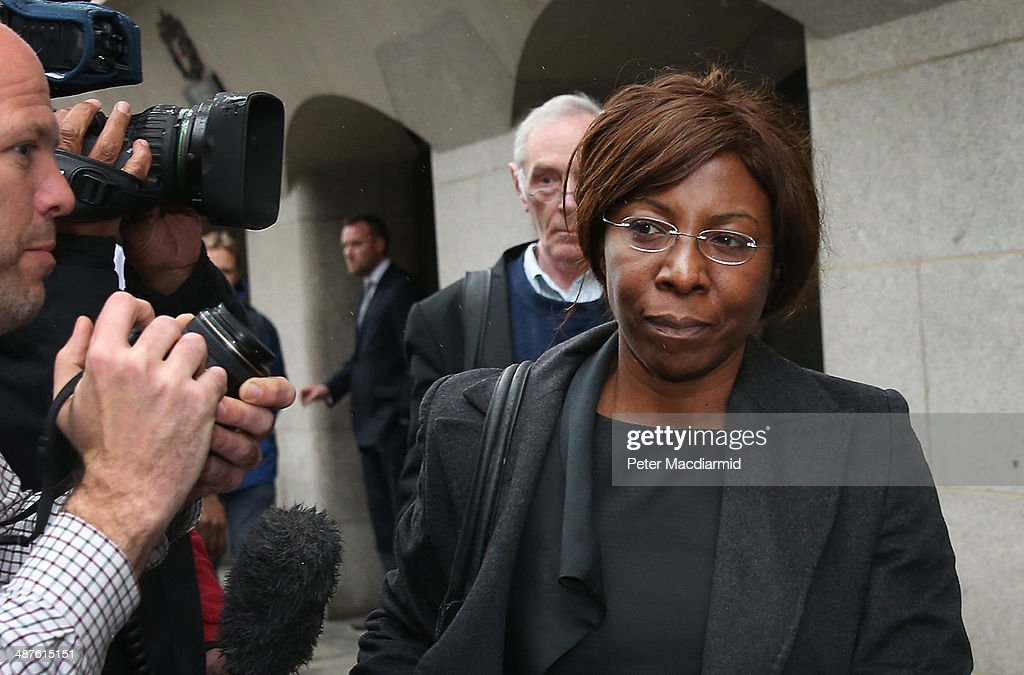 Barrister Constance Briscoe leaves the Old Bailey on May 1, 2014 in London, England. Ms Briscoe has been found guilty of lying to police investigating the case of former cabinet minister Chris Huhne.