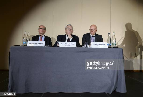 Barrister Solicitor Richard McLaren former World AntiDoping Agency President and chairman of the WADA independent commission Richard W Pound and Head...