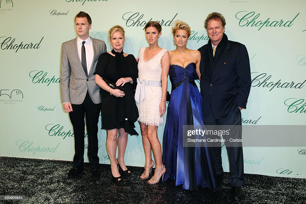 Barron Nicholas, Kathy, Nicky, Paris and Rick Hilton at the 'Chopard 150th Anniversary Party' during the 63rd Cannes International Film Festival. Barron Nicholas Hilton, Kathy Hilton, Nicky Hilton, Paris Hilton