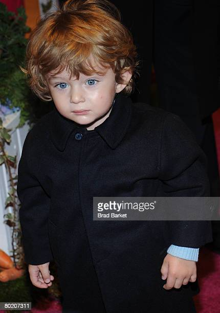 Barron Trump attends the 17th Annual Bunny Hop at FAO Schwarz March 11 2008 in New York City