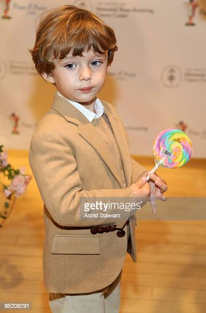 Barron Trump attends the 18th annual Bunny Hop to benefit the Society of Memorial SloanKettering Cancer Center at FAO Schwartz on March 3 2009 in New...