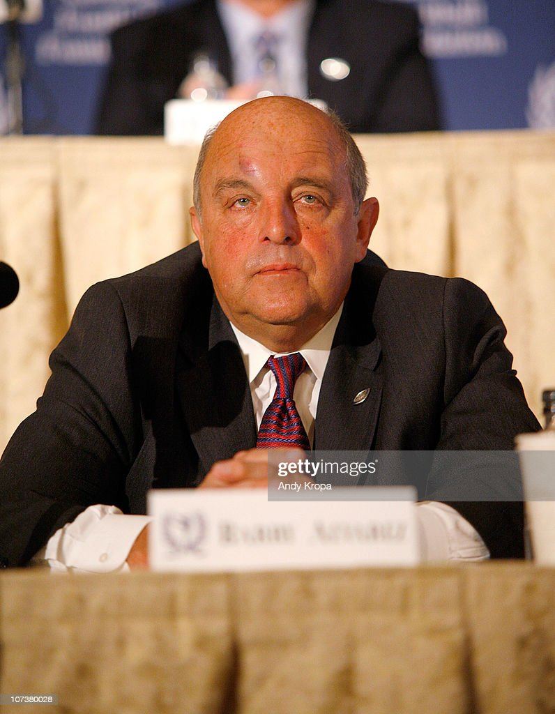 <a gi-track='captionPersonalityLinkClicked' href=/galleries/search?phrase=Barry+Alvarez&family=editorial&specificpeople=239480 ng-click='$event.stopPropagation()'>Barry Alvarez</a> attends the 2010 National Football Foundation & College Hall Of Fame Inc Press Conference at The Waldorf-Astoria on December 7, 2010 in New York City.