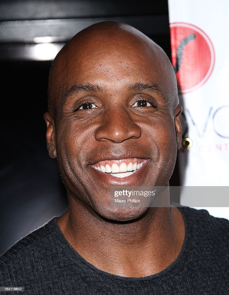 <a gi-track='captionPersonalityLinkClicked' href=/galleries/search?phrase=Barry+Bonds&family=editorial&specificpeople=171194 ng-click='$event.stopPropagation()'>Barry Bonds</a> attends TV One's 'Unsung' Series Red Carpet event for 'And Now...The World Premiere of Johnny Gill' on March 19, 2013 in Inglewood, California.