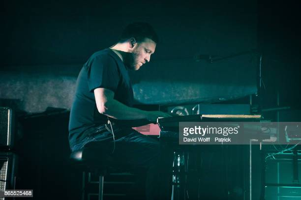 Barry Burns from Mogwai performs at Le Grand Rex on October 23 2017 in Paris France