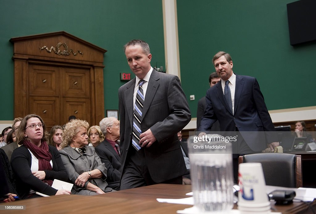 Barry Cadden, president, co-owner and director of pharmacy at the New England Compounding Center, arrives to testify at a House Energy and Commerce Oversight subcommittee hearing on 'The Fungal Meningitis Outbreak: Could It Have Been Prevented?' He invoked the Fifth Amendment to all questions.