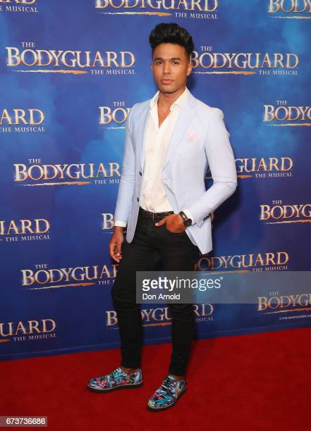 Barry Conrad arrives ahead of opening night of The Bodyguard The Musical at Lyric Theatre Star City on April 27 2017 in Sydney Australia