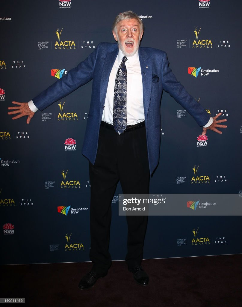 Barry Crocker poses during the 2nd Annual AACTA Awards Luncheon at The Star on January 28, 2013 in Sydney, Australia.