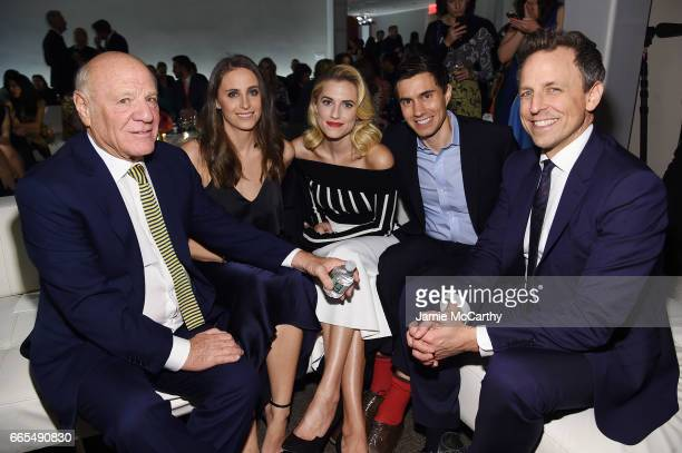 Barry Diller Alexi Ashe Allison Williams Ricky Van Veen and Seth Meyers attend the 2017 DVF Awards at United Nations Headquarters on April 6 2017 in...