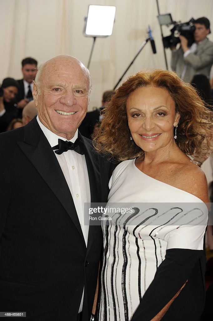 Barry Diller and Diane Von Furstenberg attend 'Charles James: Beyond Fashion' Costume Institute Gala at the Metropolitan Museum of Art on May 5, 2014 in New York City.