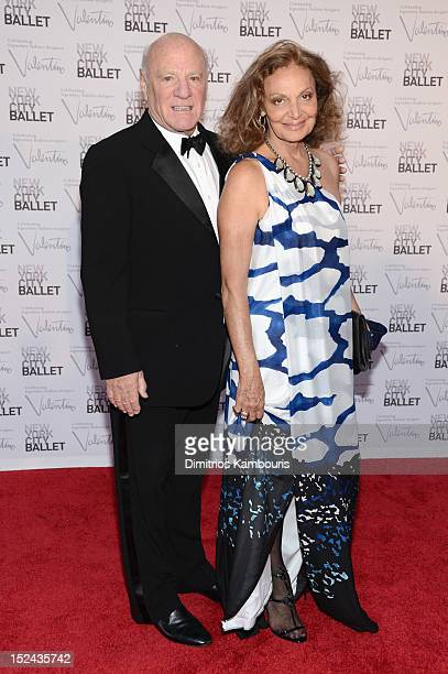 Barry Diller and Diane Von Furstenberg attend the 2012 New York City Ballet Fall Gala at the David H Koch Theater Lincoln Center on September 20 2012...