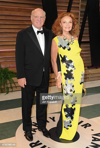 Barry Diller and Diane von Furstenberg attend the 2014 Vanity Fair Oscar Party hosted by Graydon Carter on March 2 2014 in West Hollywood California