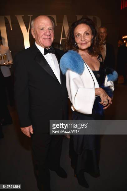 Barry Diller and Diane Von Furstenberg attend the 2017 Vanity Fair Oscar Party hosted by Graydon Carter at Wallis Annenberg Center for the Performing...