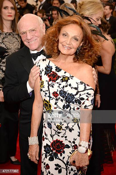 Barry Diller and Diane Von Furstenberg attend the 'China Through The Looking Glass' Costume Institute Benefit Gala at Metropolitan Museum of Art on...