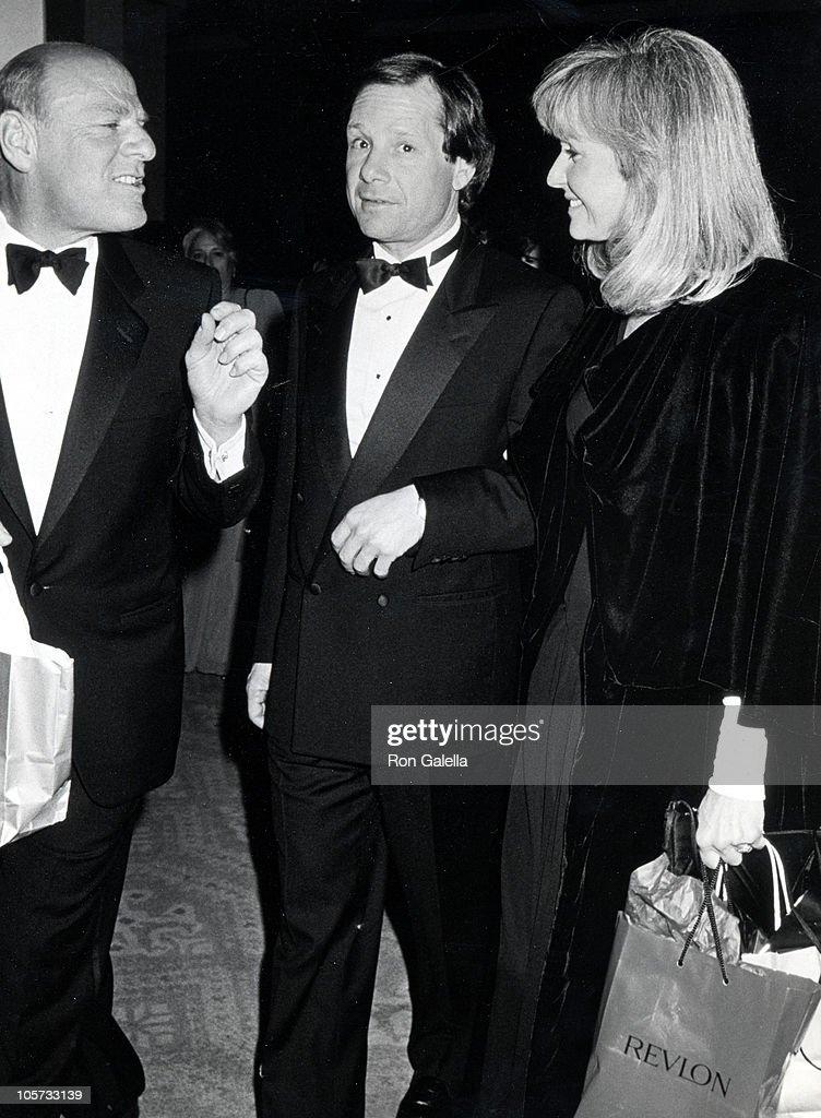 Barry Diller Michael Ovitz and Judy Ovtiz during Third Annual Fire Ice Ball at Beverly Hilton Hotel in Beverly Hills California United States