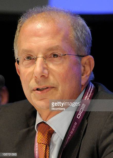 Barry F Schwartz vice chairman of MacAndrews and Forbes Holdings Inc speaks during the third annual International Symposium on Cross Border...