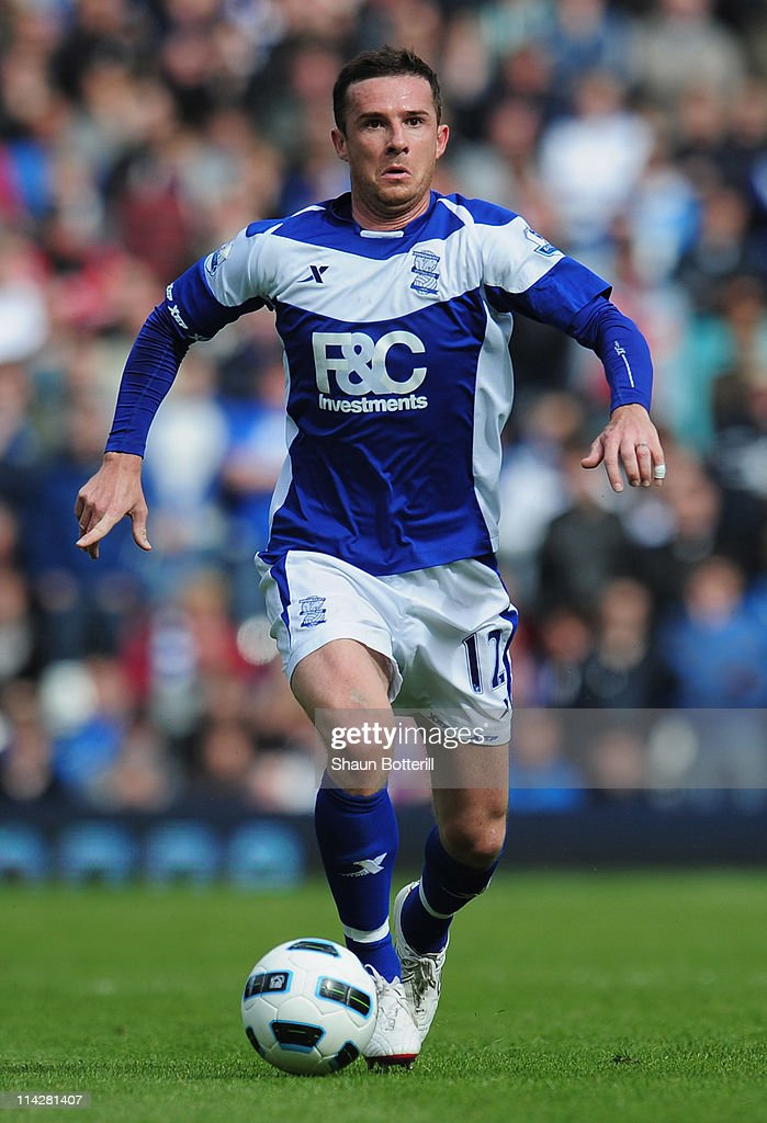 Barry Ferguson of Birmingham City breaks with the ball during the Barclays Premier League match between Birmingham City and Fulham at St Andrews on...