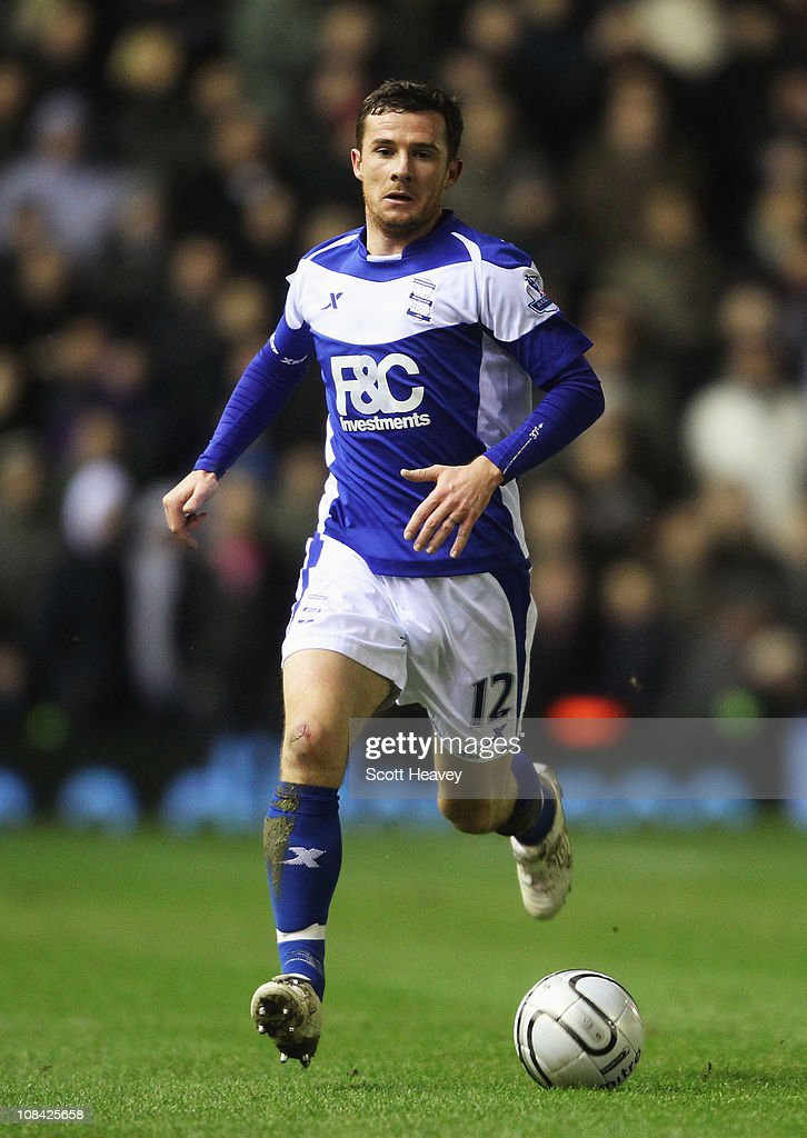 Barry Ferguson of Birmingham City in action during the Carling Cup Semi Final Second Leg match between Birmingham City and West Ham United at St...