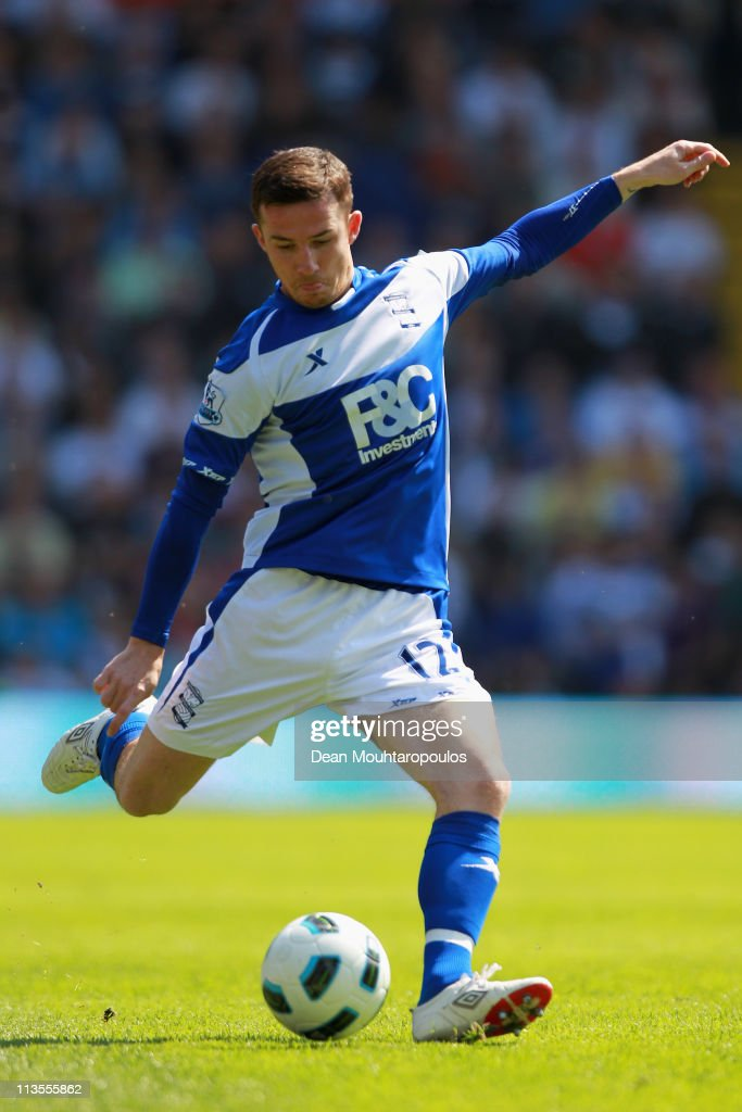 Barry Ferguson of Birmingham in action during the Barclays Premier League match between Birmingham City and Wolverhampton Wanderers at St Andrews on...