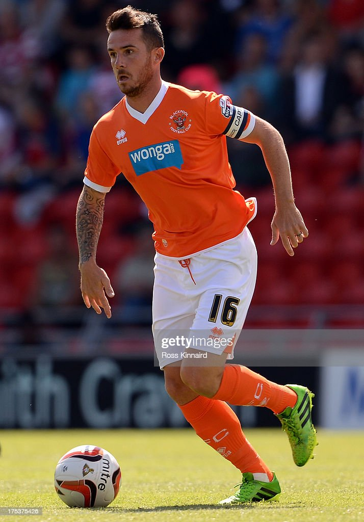 Barry Ferguson of Blackpool during the Sky Bet Championship match between Doncaster Rovers and Blackpool at Keepmoat Stadium on August 03 2013 in...