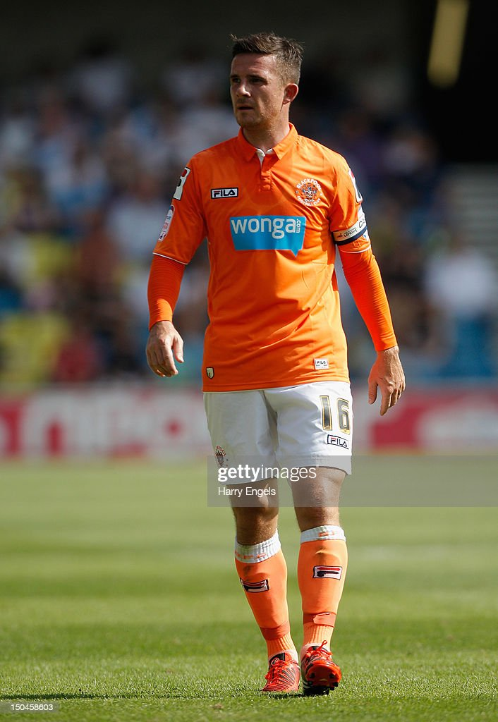 Barry Ferguson of Blackpool in action during the npower Championship match between Millwall and Blackpool at The Den on August 18 2012 in London...