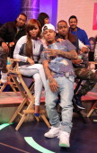Barry Floyd Lauren London Wendy Raquel Robinson Bow Wow Jay R Ellis and Hosea Chanchez visit BET's '106 Park' at BET Studios on March 26 in New York...