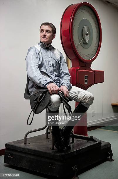 Barry Geraghty National Hunt jockey poses for a portrait at Newbury racecourse on March 3 2013 in Berkshire