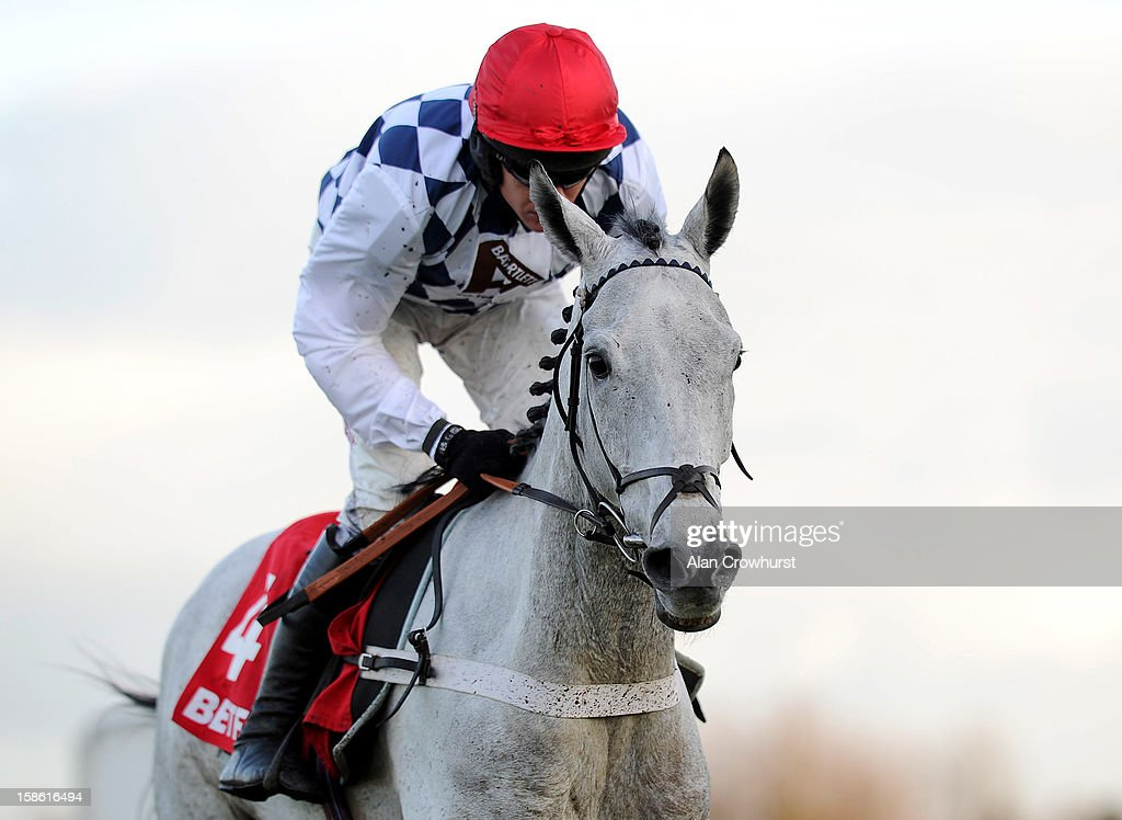 <a gi-track='captionPersonalityLinkClicked' href=/galleries/search?phrase=Barry+Geraghty&family=editorial&specificpeople=198943 ng-click='$event.stopPropagation()'>Barry Geraghty</a> riding Simonsig clear the last to win The Betfred Novices' Steeple Chase at Ascot racecourse on December 21, 2012 in Ascot, England.