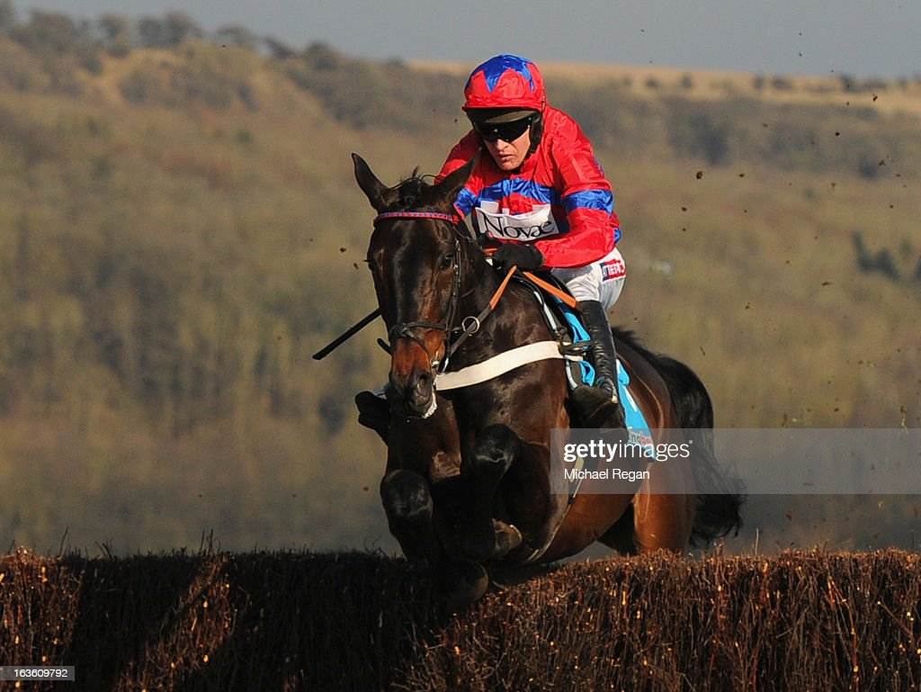 <a gi-track='captionPersonalityLinkClicked' href=/galleries/search?phrase=Barry+Geraghty&family=editorial&specificpeople=198943 ng-click='$event.stopPropagation()'>Barry Geraghty</a> riding Sprinter Sacre on their way to victory in the Queen Mother Champion Steeple Chase during Ladies Day at Cheltenham Racecourse on March 13, 2013 in Cheltenham, England.