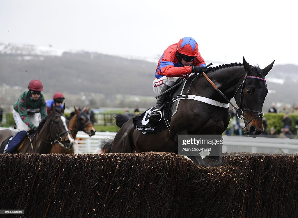 <a gi-track='captionPersonalityLinkClicked' href=/galleries/search?phrase=Barry+Geraghty&family=editorial&specificpeople=198943 ng-click='$event.stopPropagation()'>Barry Geraghty</a> riding Sprinter Sacre on their way to winning The Victor Chandler Steeple Chase at Cheltenham racecourse on January 26, 2013 in Cheltenham, England.