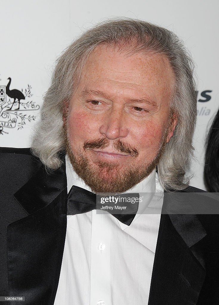 <a gi-track='captionPersonalityLinkClicked' href=/galleries/search?phrase=Barry+Gibb&family=editorial&specificpeople=208122 ng-click='$event.stopPropagation()'>Barry Gibb</a> arrives at the G'Day USA Australia Week 2011 Black Tie Gala at Hollywood Palladium on January 22, 2011 in Hollywood, California.