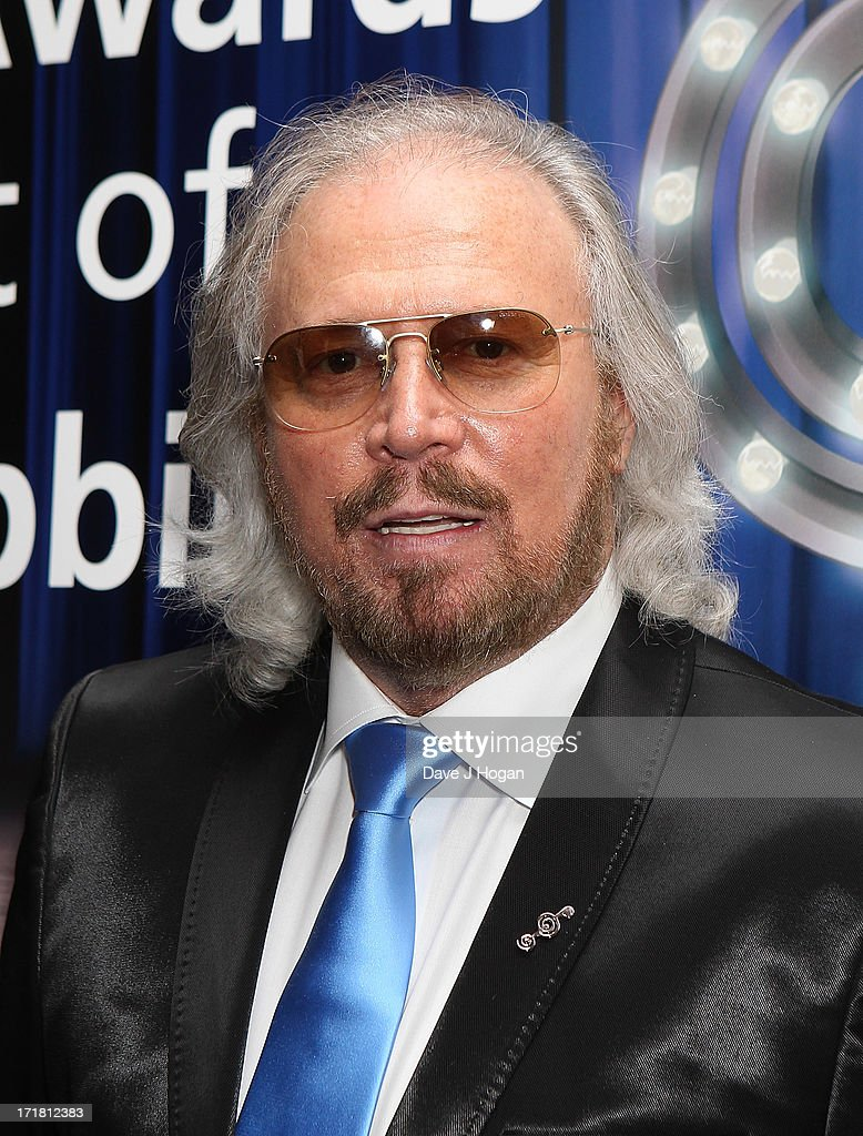 <a gi-track='captionPersonalityLinkClicked' href=/galleries/search?phrase=Barry+Gibb&family=editorial&specificpeople=208122 ng-click='$event.stopPropagation()'>Barry Gibb</a> attending the Nordoff Robbins Silver Clef Awards at London Hilton on June 28, 2013 in London, England.