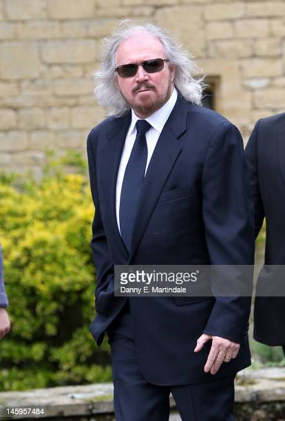 Barry Gibb attends the funeral of Robin Gibb held at St Mary's Church Thame on June 8 2012 in Oxford England