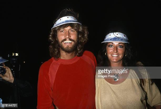 Barry Gibb of the Bee Geesand wife Linda circa 1978