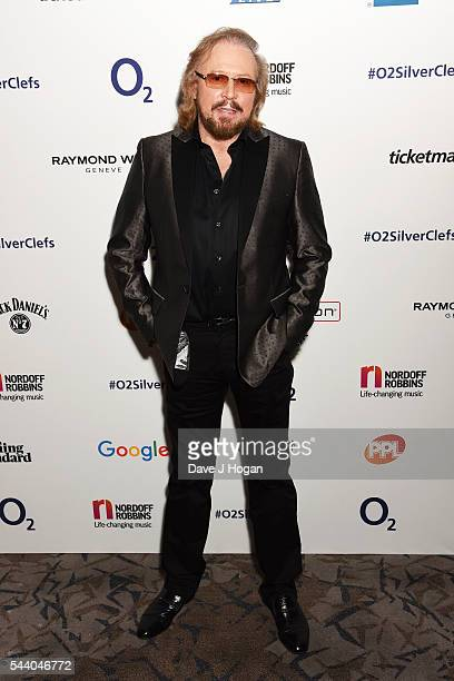 Barry Gibb poses for a photo during the Nordoff Robbins O2 Silver Clef Awards on July 1 2016 in London United Kingdom