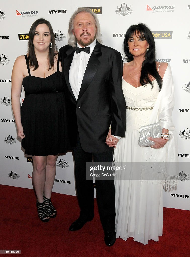 Barry Gibb, wife Linda Gibb and daughter Alexandra Gibb arrive at the 2011 G'Day USA Los Angeles Black Tie Gala honoring Barry Gibb, Roy Emerson and Abbie Cornish held at the Hollywood Palladium on January 22, 2011 in Hollywood, California.