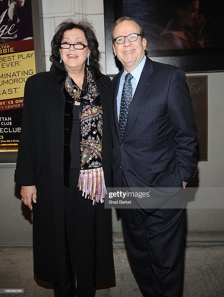 Barry Grove and Lynne Meadow attend 'The Other Place' Broadway opening night at Samuel J. Friedman Theatre on January 10, 2013 in New York City.