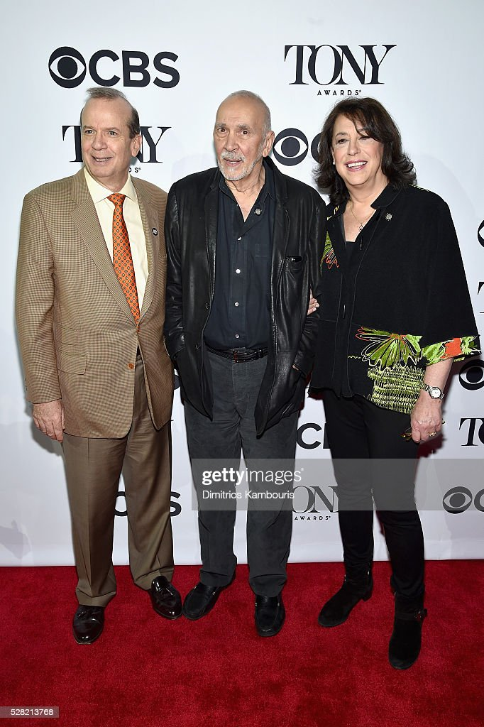 Barry Grove, <a gi-track='captionPersonalityLinkClicked' href=/galleries/search?phrase=Frank+Langella&family=editorial&specificpeople=223970 ng-click='$event.stopPropagation()'>Frank Langella</a>, and Lynne Meadow attend the 2016 Tony Awards Meet The Nominees Press Reception on May 4, 2016 in New York City.