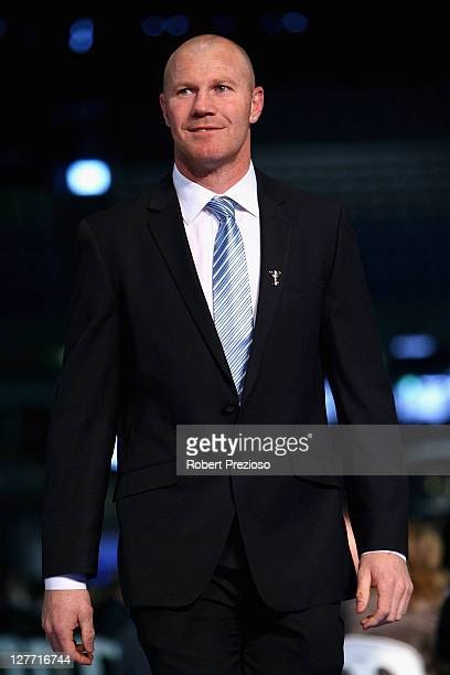 Barry Hall attends the North Melbourne AFL Grand Final Breakfast at Etihad Stadium on October 1 2011 in Melbourne Australia