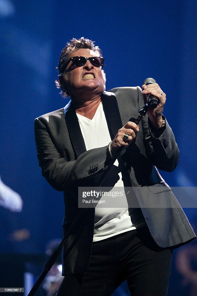 Barry Hay lead singer of Dutch rock band Golden Earring performs on Night of the Proms at Gelredome on November 13 2010 in Arnhem Netherlands